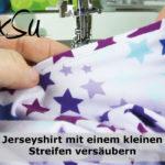 Videoanleitung | Einen Saum mit einem kleinen Beleg an ein Jerseyshirt nähen