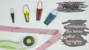 Vorschaubild - Schrägband aus Jersey selbst herstellen Blog