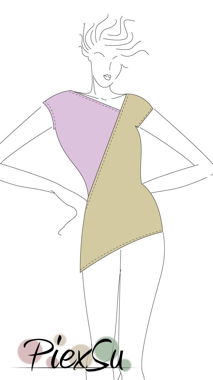 Asymerisches-Oberteil-Variar-Figur