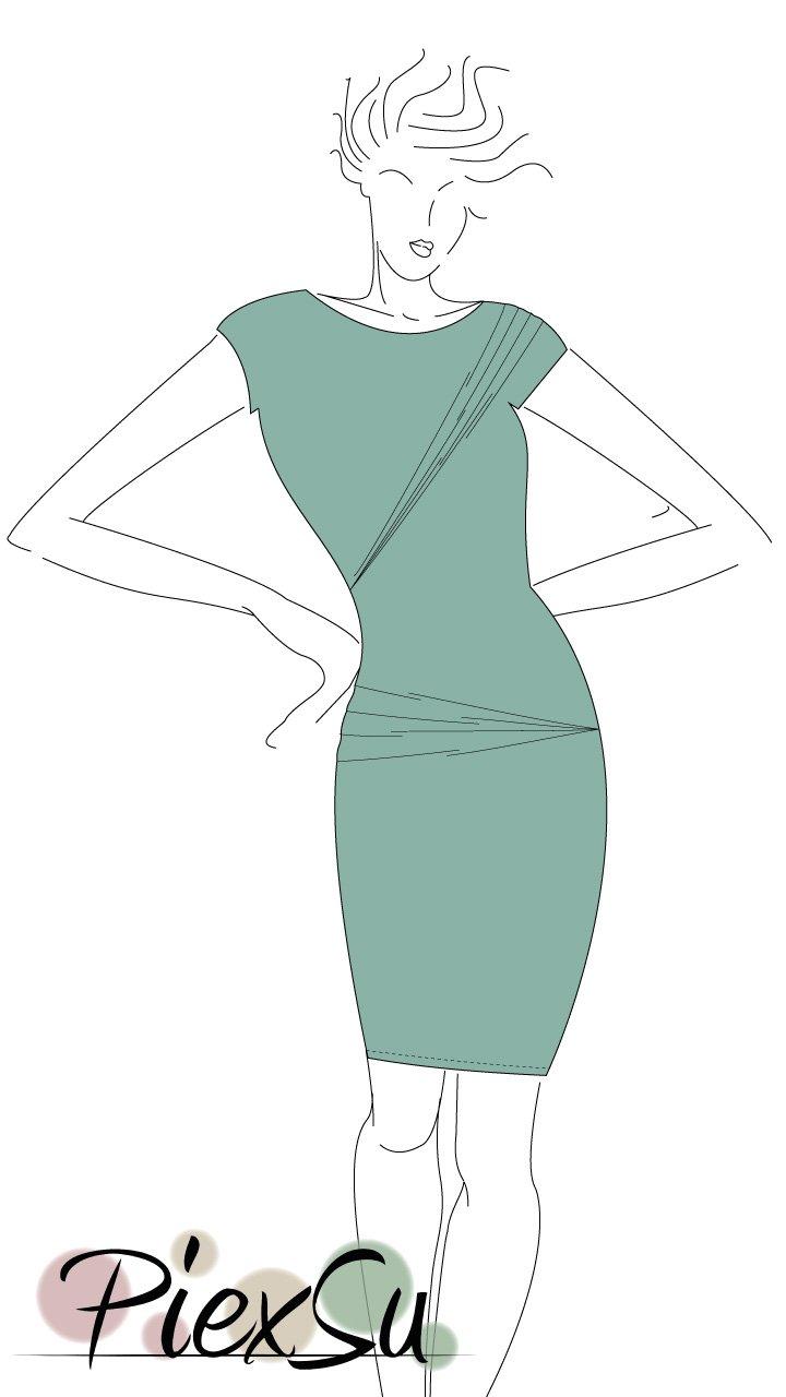 Drapiertes-Sommerkleid-Figur