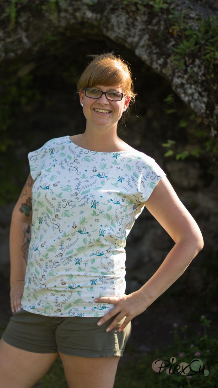 PiexSu Wasserfall Shirt Levezia nähen Schnittmuster Summer Basics_3