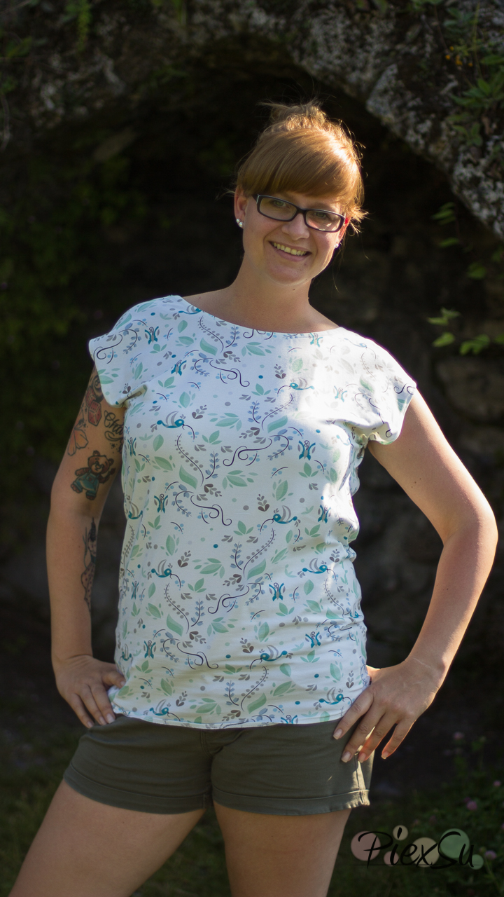 PiexSu Wasserfall Shirt Levezia nähen Schnittmuster Summer Basics_4