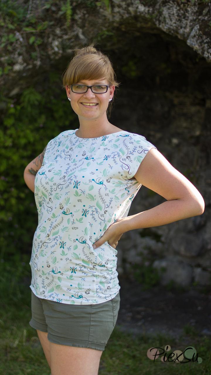 PiexSu Wasserfall Shirt Levezia nähen Schnittmuster Summer Basics_1