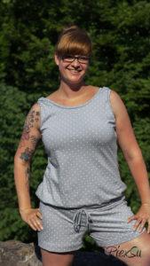 PiexSu Jumpsuit Siglir nähen Schnittmuster Summer Basics_32