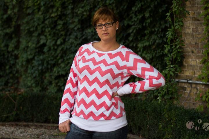 Raglanpullover PiexSu Modest Schnittmuster Pullover Sweat Bündchen Änfänger_3