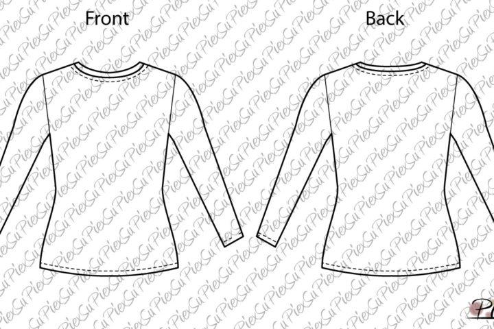 PiexSu-Schnittmuster-Tessa-Girls-T-Shirt-nähen-technische-Zeichnung-01