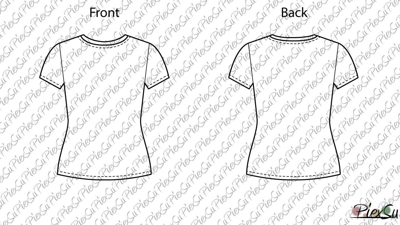 Ebook Schnittmuster T Shirt Tessa Girls Piexsu