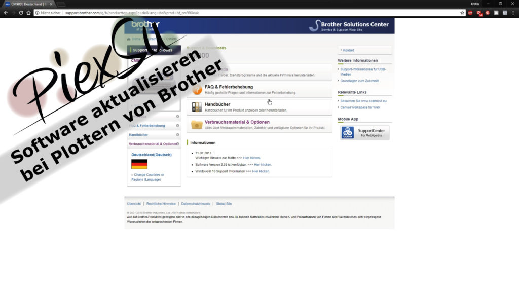 Plotteranleitung-Softwareupdate-für-Brother-Plotter-PiexSu-Titelbild