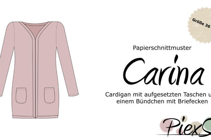 Papierschnittmuster Cardigan Carina inkl. eBook