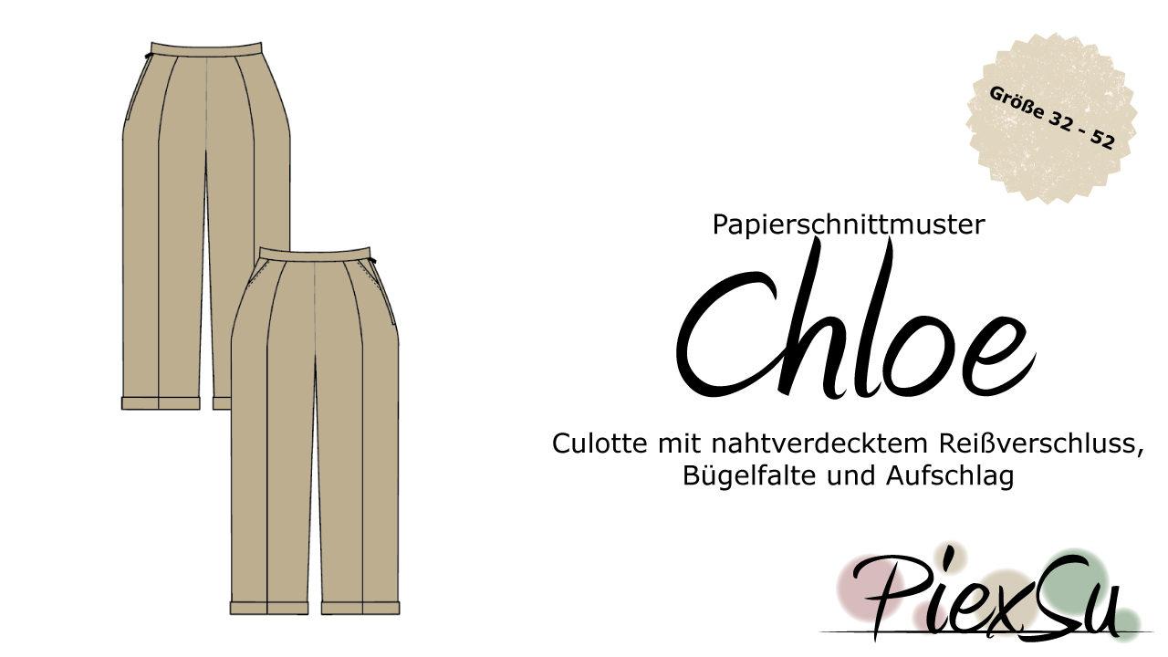 Papierschnittmuster Culotte Chloe inkl. eBook