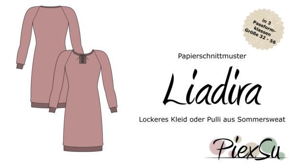 Papierschnittmuster PiexSu Liadira inkl. eBook