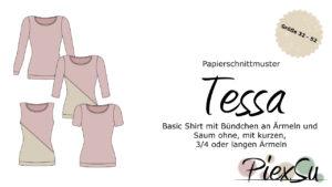 Papierschnittmuster T-Shirt Tessa inkl. eBook