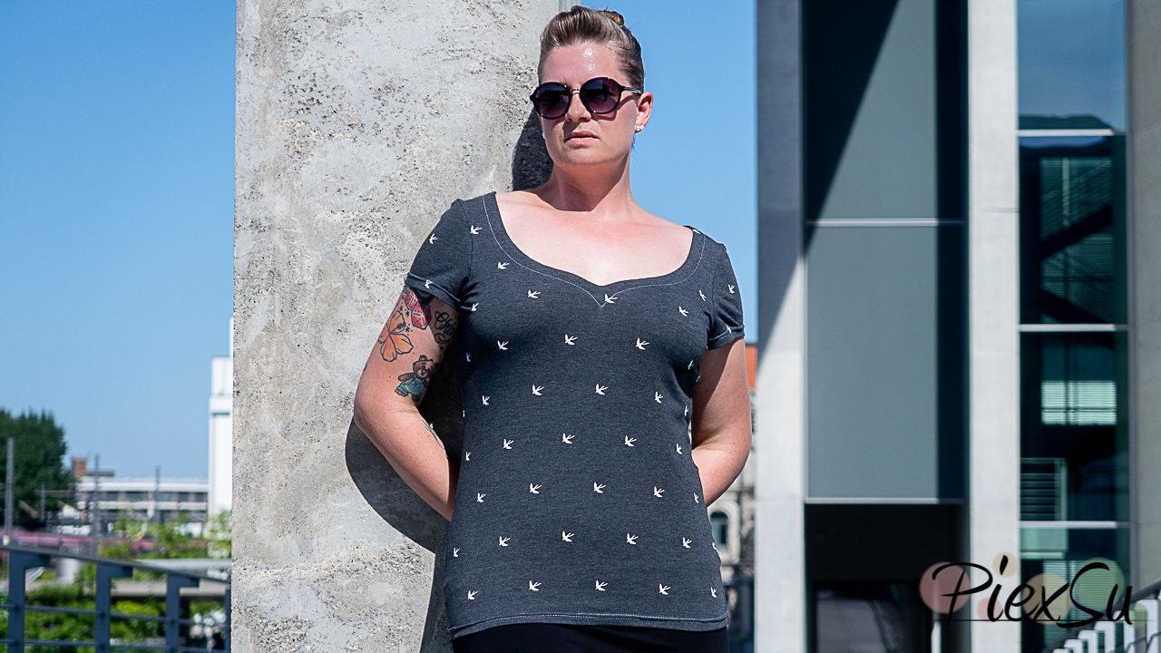 eBook Schnittmuster PiexSu Sunny Kleid + Shirt mit Herzausschnitt
