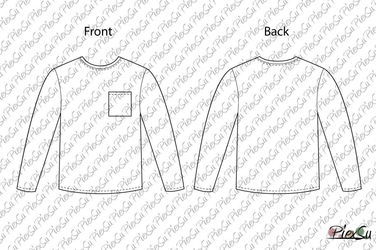 Schnittmusterbogen-Herren-Basic-Shirt-Sempel-lang-Arm-technische-Zeichnung