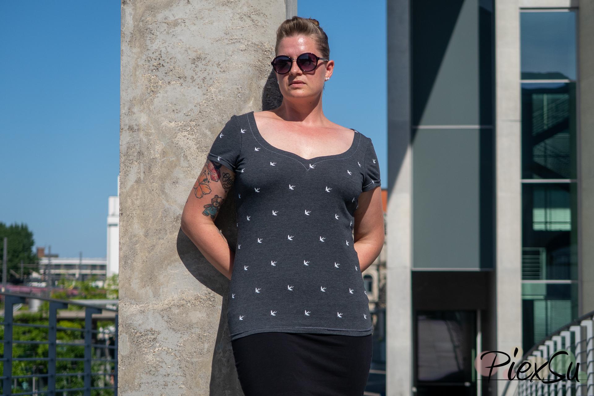 PiexSu Sunny Herzausschnitt ebook Schnittmuster nähen Shirt -5909